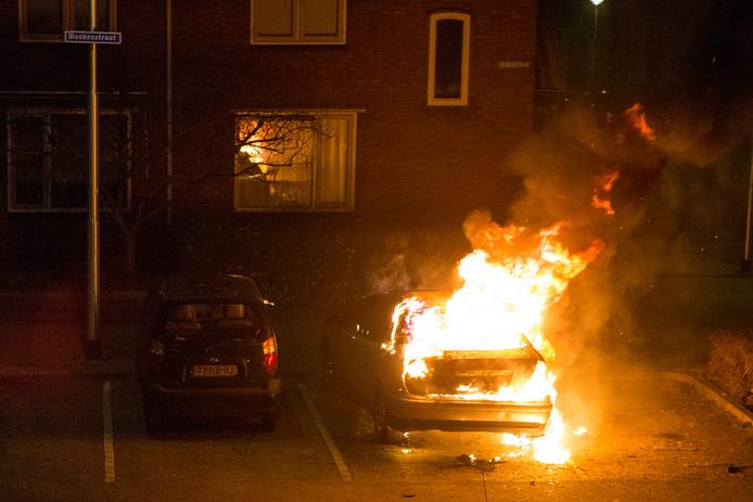 De autobrand in Nijmegen.