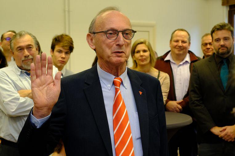 Frank Boogaerts (N-VA) legde maandagochtend bij de gouverneur de eed af als burgemeester van Lier.