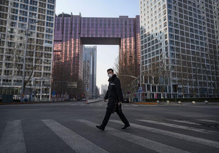 Veel kantoren bleven maandag leeg, omdat bedrijven het veiliger achtten hun werknemers thuis te laten te werken. Beeld Getty Images