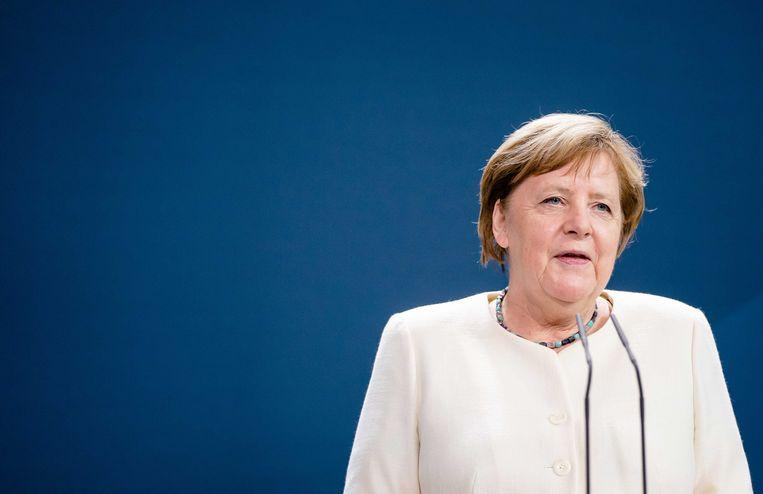 Angela Merkel in het Bundeskanzleramt Beeld ANP / Bart Maat