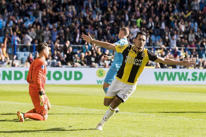 Oussama Darfalou scoorde vlak voor rust de belangrijke 2-0 voor zijn ploeg.