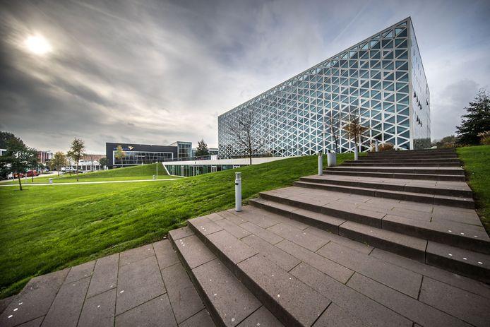Het X-gebouw van hogeschool Windesheim in Zwolle