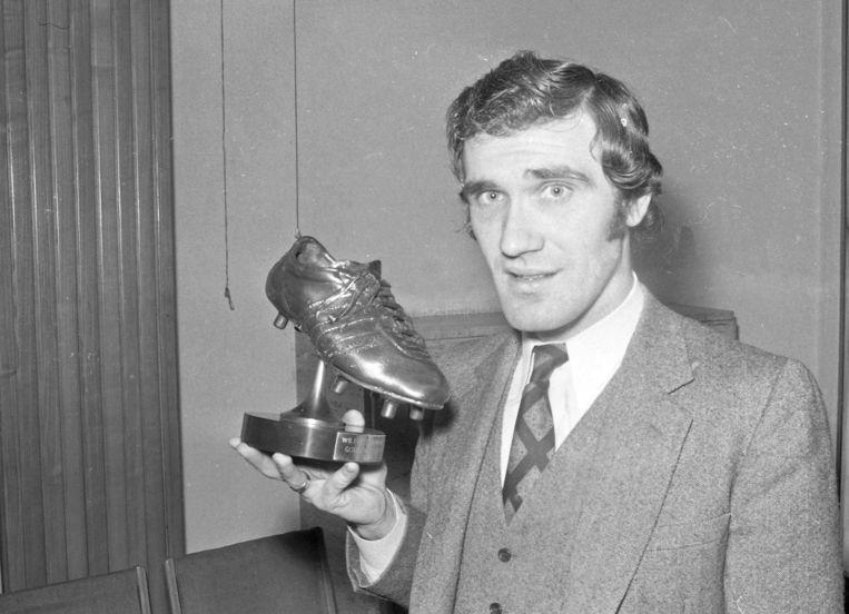 Wilfried Van Moer (Standard) wint de Gouden Schoen in 1970.
