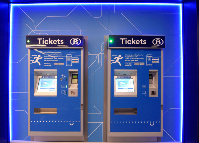 Présentation d'un nouveau concept d'espace de vente, d'accueil et d'information pour les voyageurs de la SNCB en gare de Namur  (illustration)