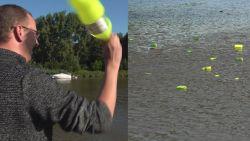 Onderzoekers gooien plastic in water... om vervuiling aan te pakken