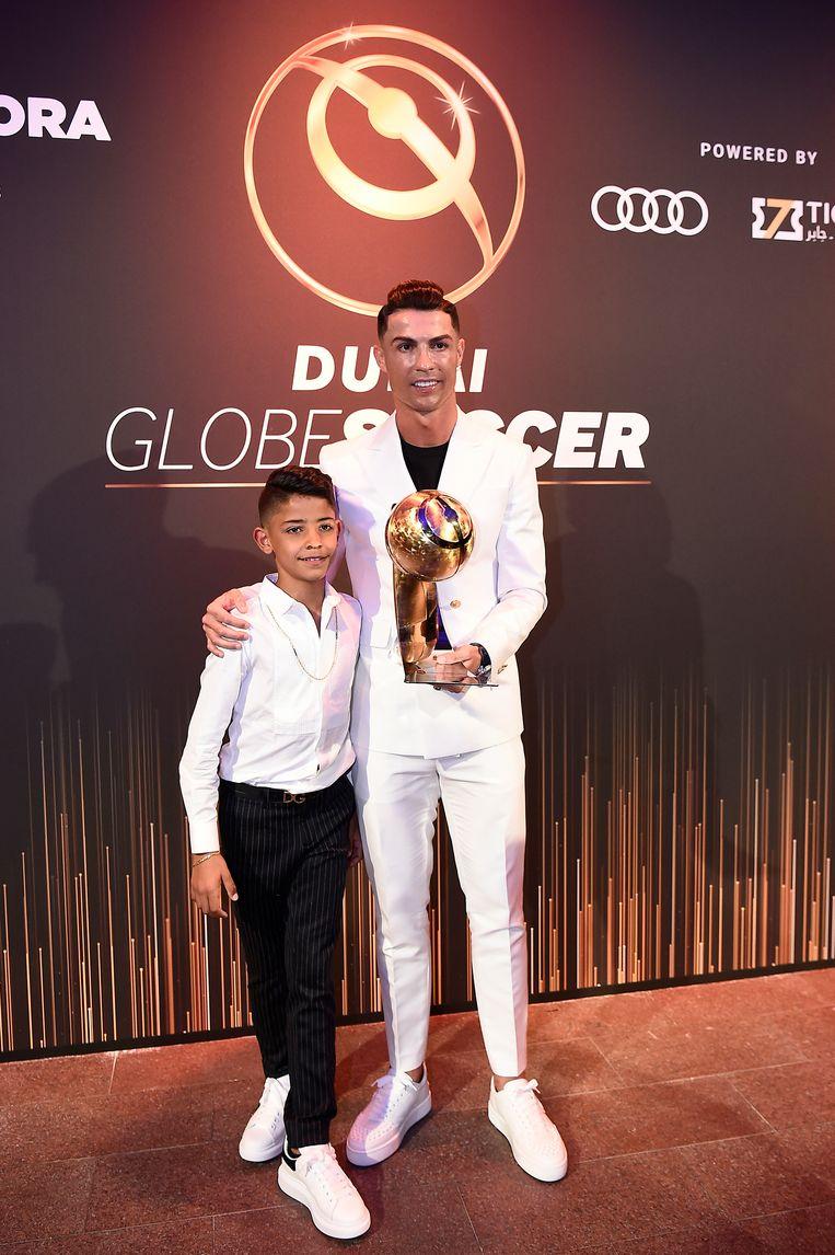 Ronaldo met Cristiano Junior in Dubai.