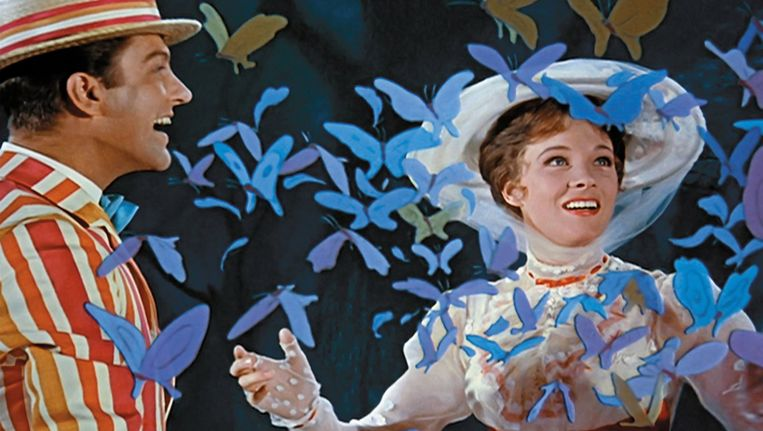 Julie Andrews in Mary Poppins uit 1964