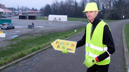 Loopwedstrijd met fluo als dresscode