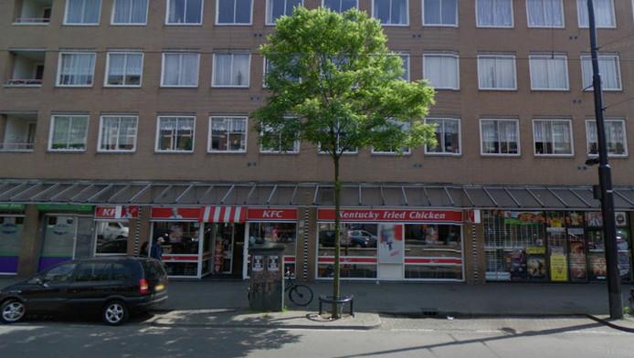 De KFC vestiging aan de West-Kruiskade in Rotterdam