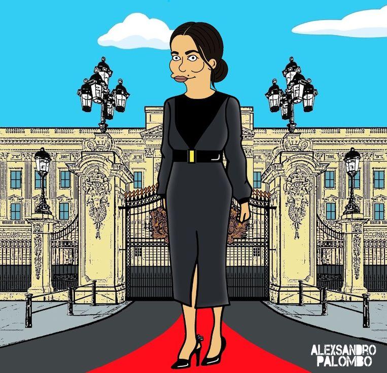 De Italiaanse artiest AleXsandro Palombo transformeerde Meghan Markle al in een 'Simpsons'-figuur.