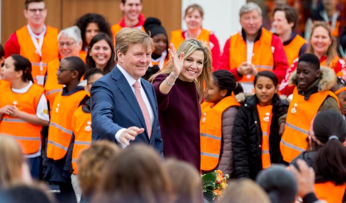 Koning Willem-Alexander en koningin Máxima vorig jaar bij de Koningsspelen in Amsterdam.