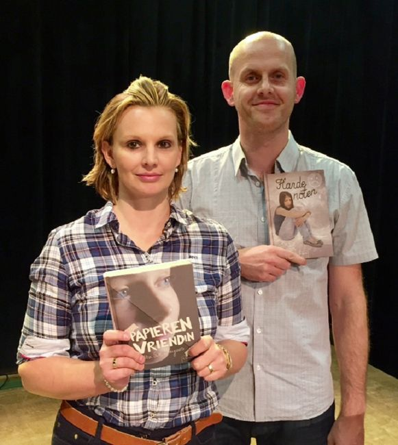 Ilse De Keyzer en acteur Kristof Francis van Studio Gekko.