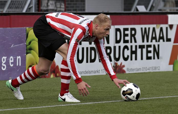 Daniel Breedijk   tijdens de wedstrijd Jong Sparta  - VVSB
