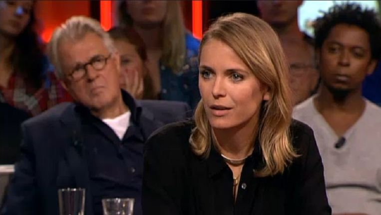 Hanna Verboom bij De Wereld Draait Door. Beeld