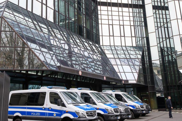 Het hoofdkantoor van de Deutsche Bank in Frankfurt.  Beeld Getty
