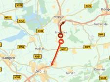 File op A28 tussen Meppel en Zwolle (door kapotte vrachtauto) is opgelost