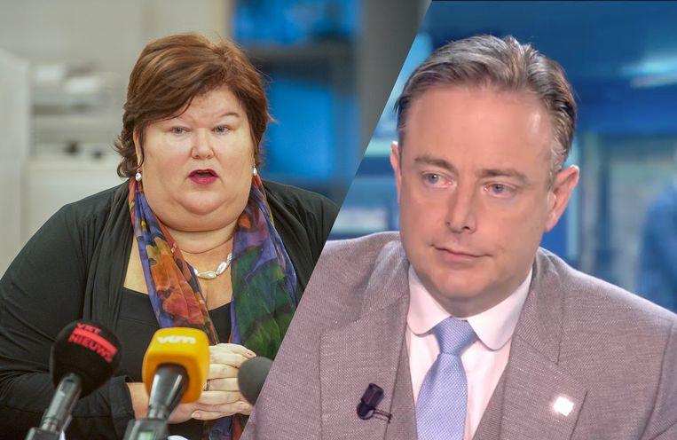 Maggie De Block is niet opgezet met de kritiek van N-VA-voorzitter Bart De Wever.