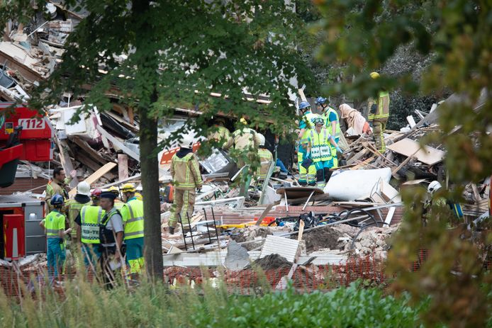 Drie woningen werden weggeblazen door de gasontploffing.