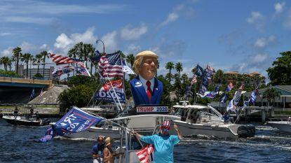 Botenparades in Trumps nieuwe thuisstaat Florida ter ere van zijn 74ste verjaardag