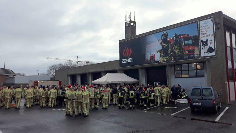 In Torhout stond voor tientallen brandweerlui een ontbijtje klaar.