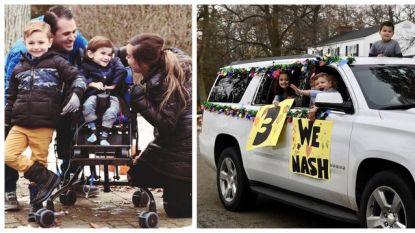Een week goed nieuws: buurt organiseert hartverwarmende parade voor zieke Nash (3) en andere verhalen die je blij maken