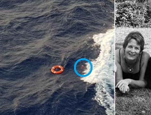 De Australische zender 7 News heeft een beeld vrijgegeven waarop de vrouw te zien is vlak nadat ze in zee is terechtgekomen.