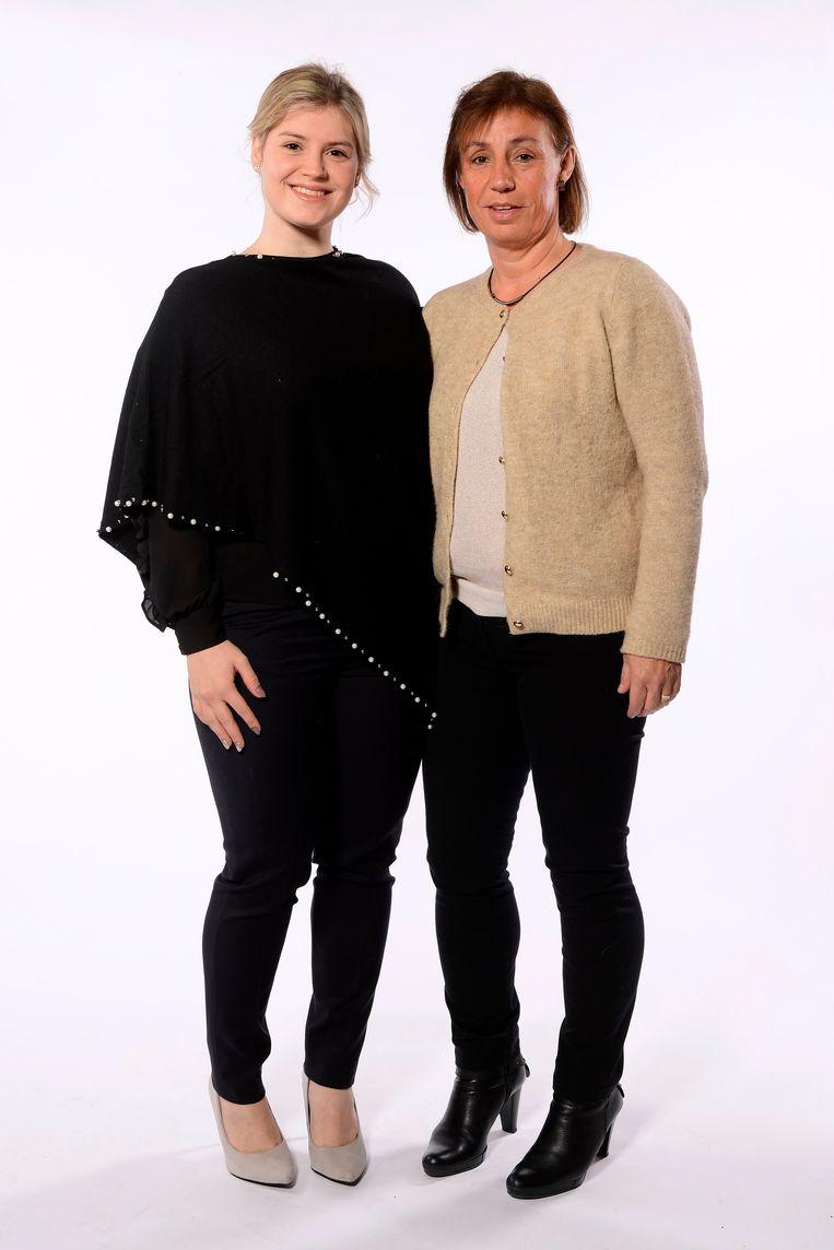 Nicky Degrendele en Michelle Hills.