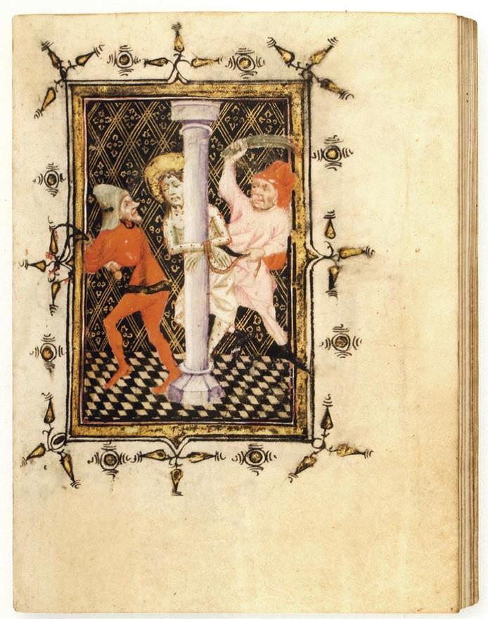 Een pagina uit het getijdenboek.