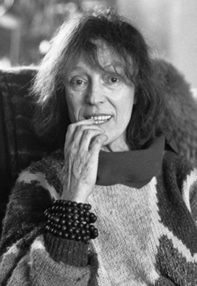 Bibeb in haar huis in Scheveningen in 1985. Foto ANP Beeld