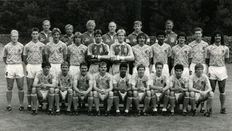 Het Nederlands Elftal in 1988. Beeld anp