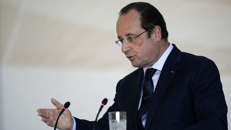 De Franse president Hollande, vandaag in Azerbeidzjan.