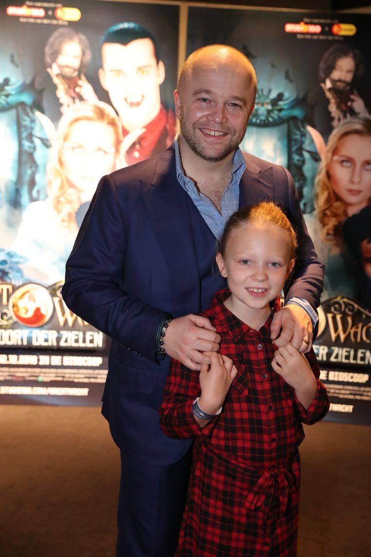 Sven De Ridder speelt een hoofdrol in de film. Dochter Robin Rosy kwam haar papa graag bewonderen.
