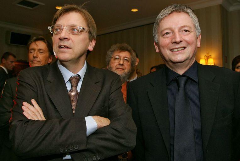 Stevaert in 2006 met ex-premier Guy Verhofstadt.