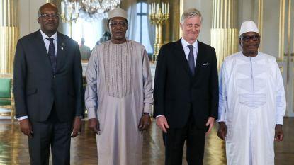 Koning luncht met Afrikaanse staatshoofden