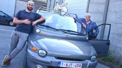 """The Eddies racen in Budapest Rally... met 'de lelijkste auto ooit'. """"Hij zit nochtans als een salon"""""""