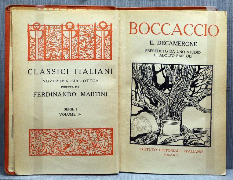'Il Decamerone' van Boccaccio Beeld
