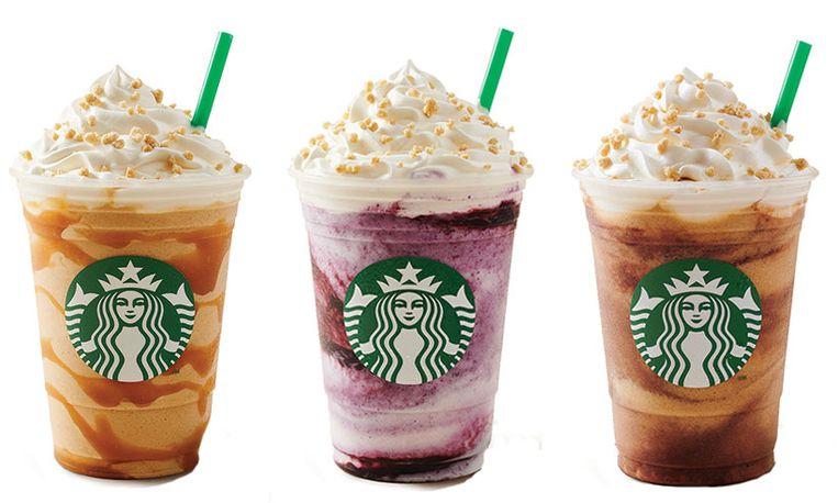 Starbucks cheesecake frappuccino. Beeld null