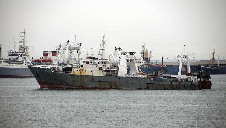 Het Zuid-Koreaanse schip dat gisteren in de Beringzee zonk. Beeld reuters