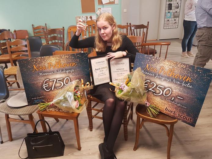 Noa Pothoven in de prijzen tijdens BoekGoud 2019.