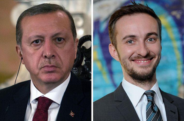 De Turkse president Erdogan diende een klacht in tegen tv-presentator Böhmermann.