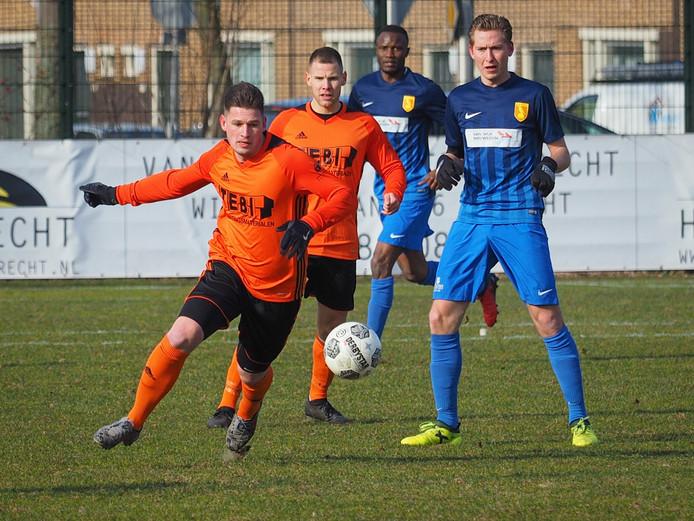 Joey van Ede in het shirt van Montfoort, voor de fusie, toen hij wekelijks speelde.