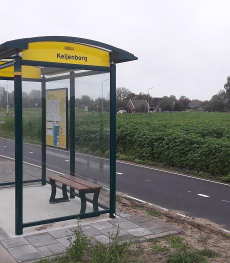 'Veilige route naar bushalte Keijenborg tussen de weilanden door'