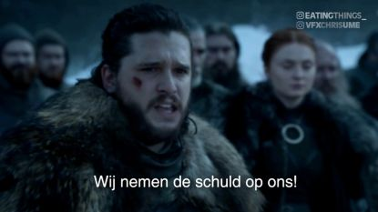 Grapjassen doen Jon Snow excuses aanbieden voor seizoen 8 van 'Game Of Thrones'