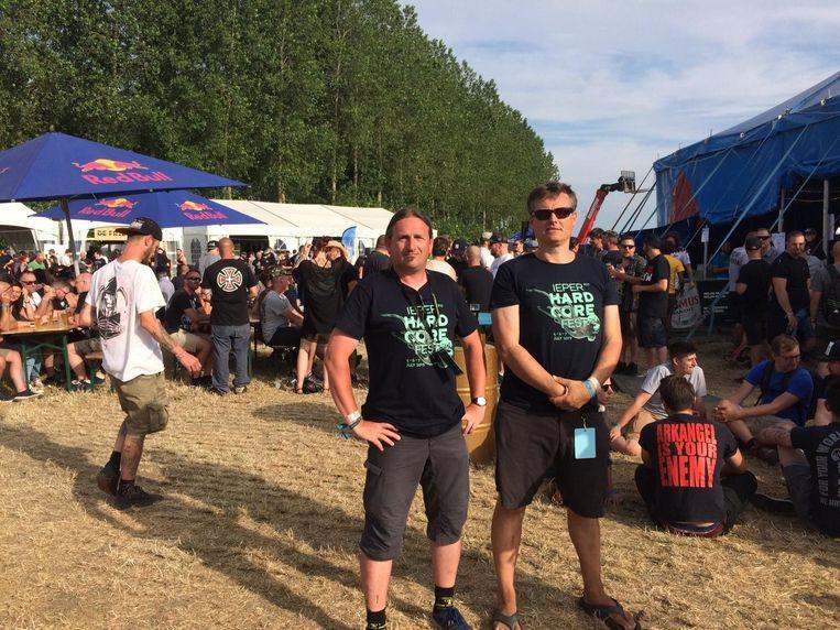 Ieperfest-organisatoren Davy Bauwen en Bruno Vandevyvere.