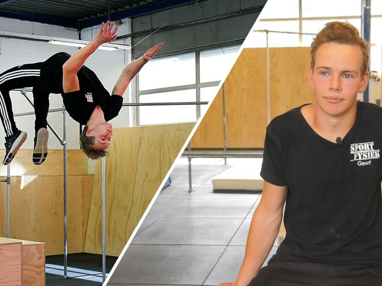 18-jarige Geert bouwde zijn eigen freerunbaan