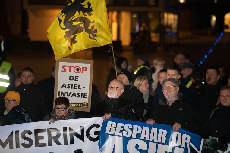 De actie tegen asielzoekers in Lommel