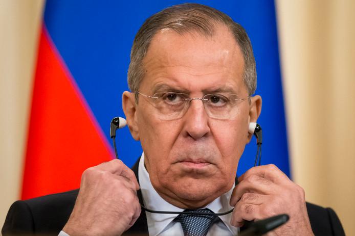 Sergej Lavrov, de Russische minister van Buitenlandse Zaken