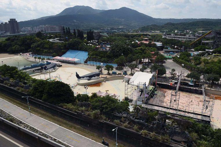 Het waterpark waar gisteren meer dan 500 mensen gewond raakten na een explosie.