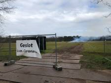Paasvuur in Haaksbergen in vlammen op, zonder publiek