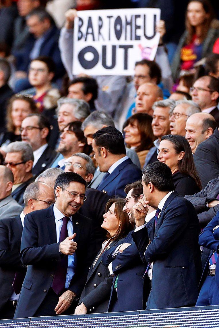 In recente thuismatchen van FC Barcelona lag Bartomeu steeds meer onder vuur.
